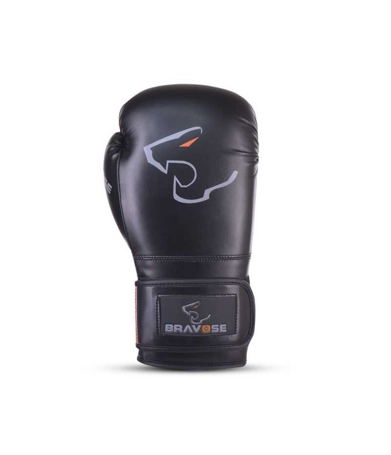 Bravose Armour Premium Quality Black Boxing Gloves for Bag and Sparring