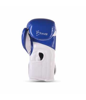Bravose Alpha Premium quality Blue and white velcro boxing gloves for bag and sparring